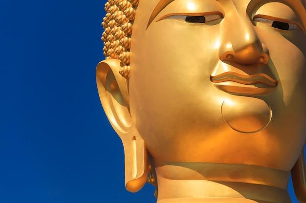 Gesicht des großen buddha