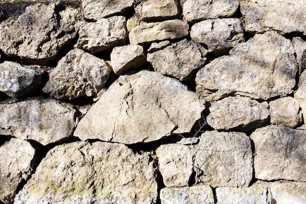 Gestapelte steinmauer hintergrund