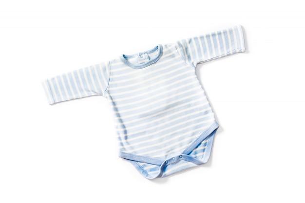 Gestreifter blau-weißer baby-strampler