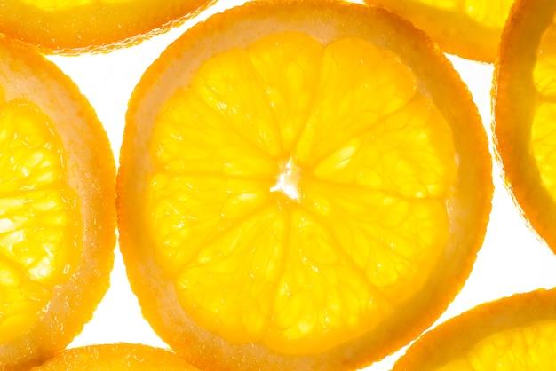 Gesund geschnittene orangenscheiben