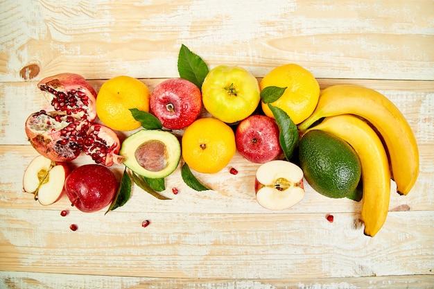 Gesunde auswahl an lebensmitteln, sauberes essen