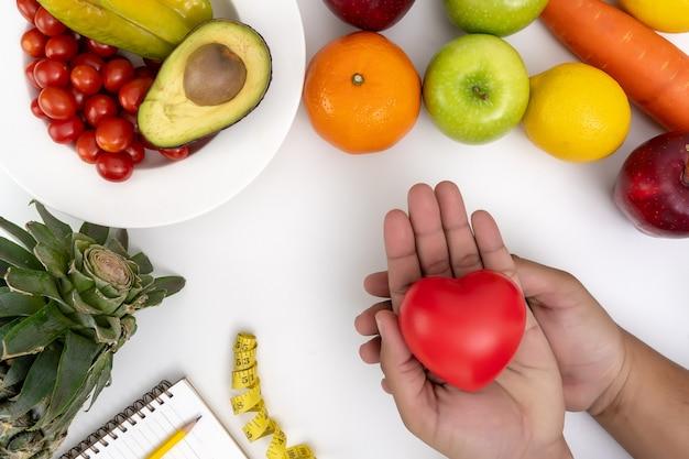 Gesunde diät des diabetesüberwachungsgeräts frisches obst und gemüse