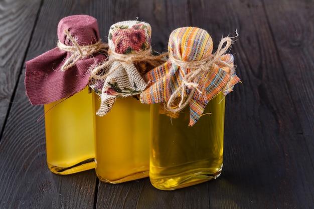 Gesunde ernährung leinsamen leinöl omega-3-lebensmittel