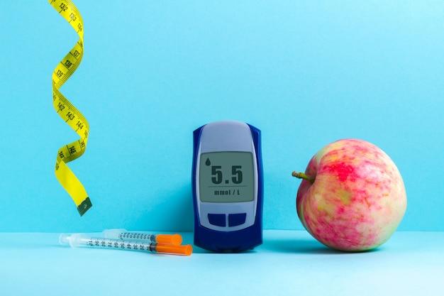Gesunde ernährung zur behandlung und vorbeugung von zuckerdiabetes.