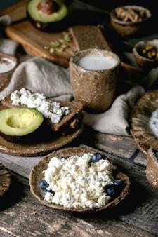 Gesunde frühstücksauswahl