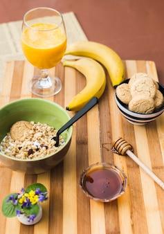Gesunde frühstückszusammensetzung