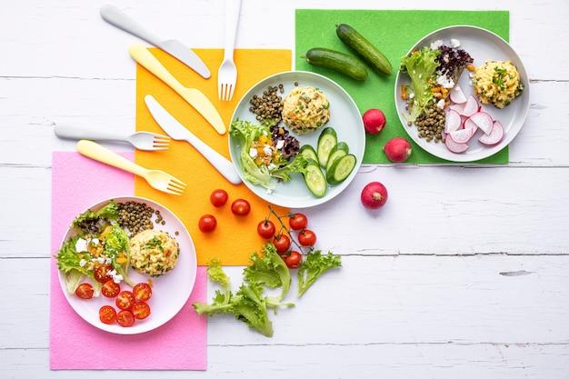 Gesunde kinder essen hintergrundbild