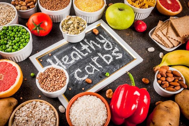 Gesunde kohlenhydratnahrungsmittelbestandteile