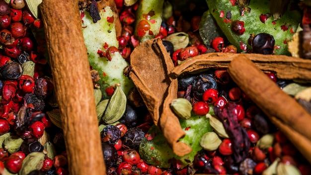 Gesunde naturkost zum verkauf auf dem markt
