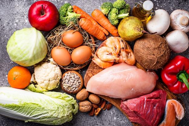 Gesunde produkte für die paleo-diät