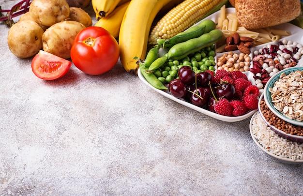 Gesunde produktquellen für kohlenhydrate.