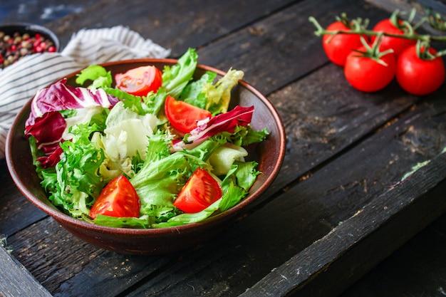 Gesunde salatgemüseblätter