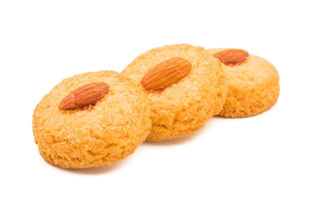 Gesunde selbst gemachte süße mandelgebäck