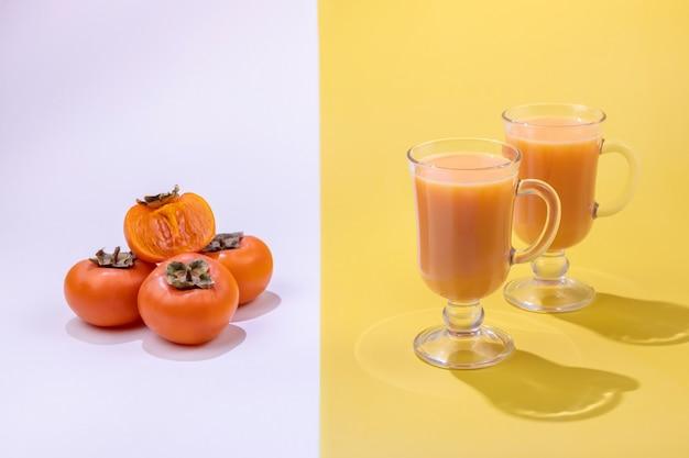 Gesunde smoothies aus der frucht der kaki
