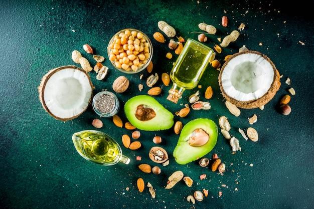 Gesunde vegane fettquellen