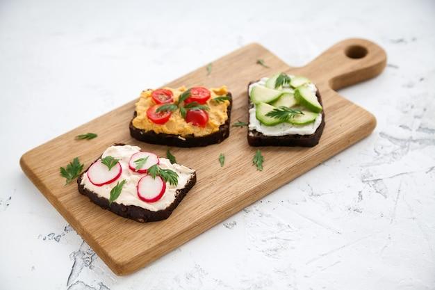 Gesunde vegetarische sandwiches