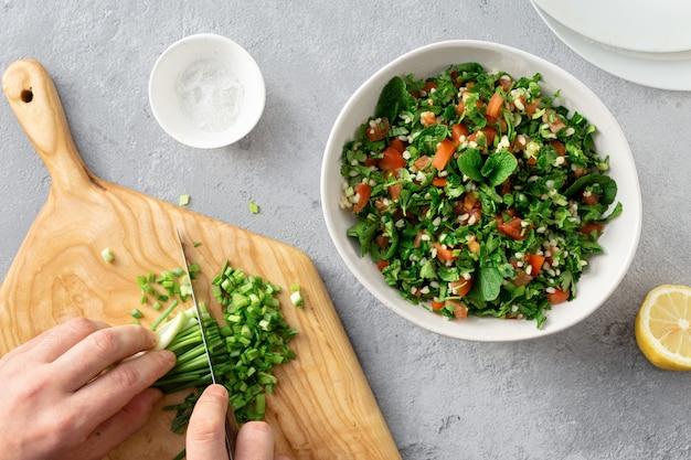 Gesunde zutaten für salat