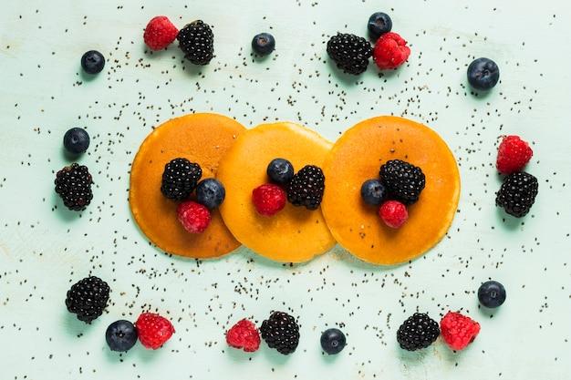 Gesunde zutaten zum leckeren frühstück