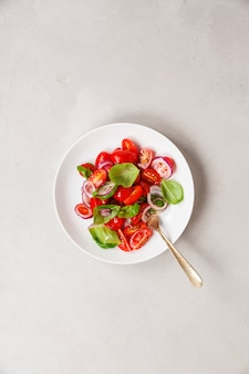 Gesunder salat, draufsicht