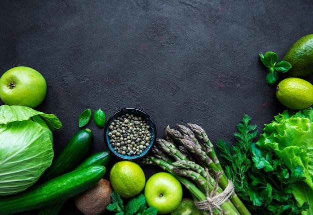 Gesunder vegetarischer nahrungsrahmen