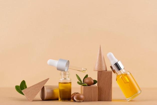Gesundes arganöl arrangement
