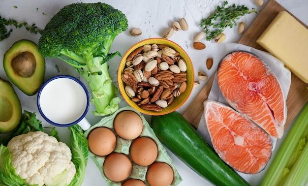 Gesundes ausgewogenes lebensmittelkonzept