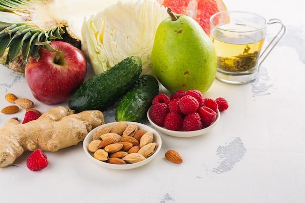 Gesundes essen für die fettverbrennung