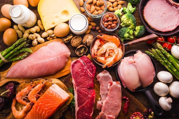 Gesundes essen für eine eiweißdiät