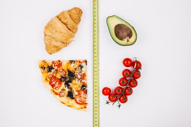Gesundes essen gegen ungesundes essen