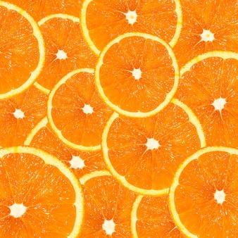 Gesundes essen . hintergrund mit zitrusfrüchten von orangenscheiben. collagiertes bild.