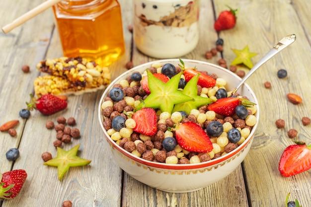 Gesundes frühstück, nahaufnahme