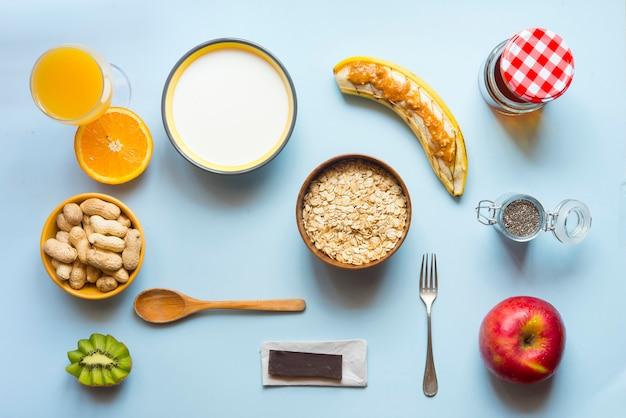 Gesundes frühstück, richtiges essen
