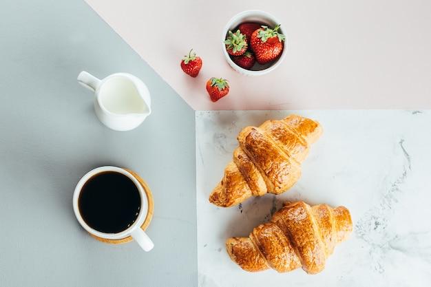 Gesundes frühstücks-morgen-konzept