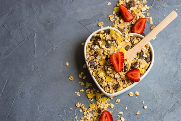 Gesundes frühstückskonzept