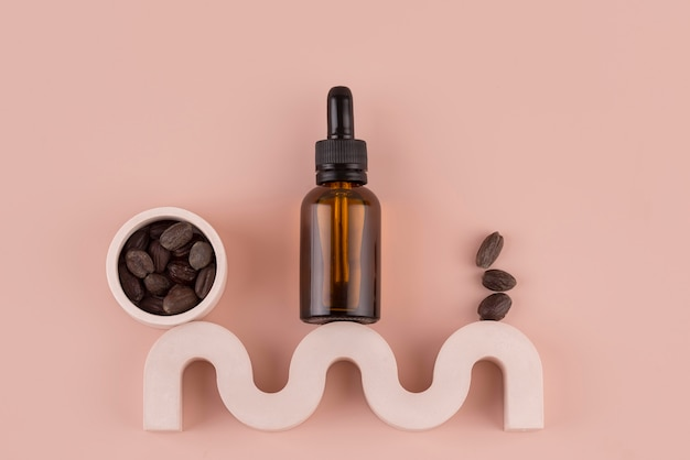 Gesundes jojobaöl-behandlungs-arrangement