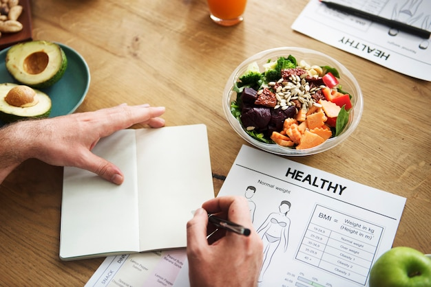 Gesundes lebensstil-diät-nahrungs-konzept