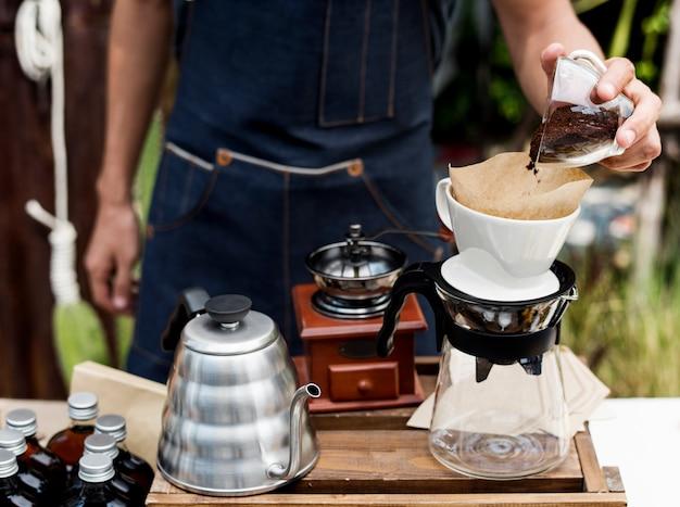 Gesundes produkt für kaffeegourmet
