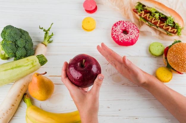 Gesundes und ungesundes essen