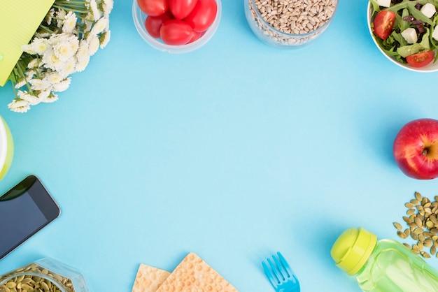 Gesundes vegetarisches frühstück