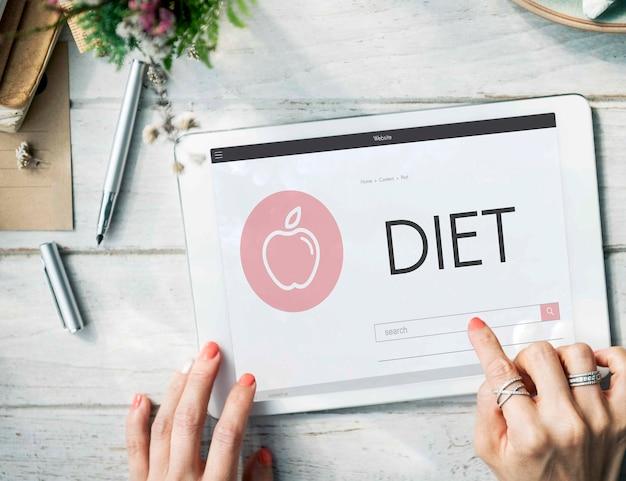 Gesundheit wellness diät übung bio-konzept