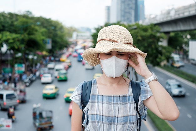 Gesundheitswesen und luftverschmutzung konzept
