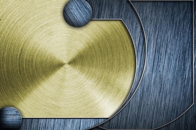 Getönte metallplatte