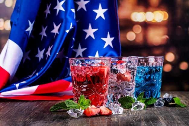 Getränke zur feier 4. juli