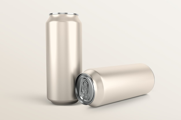 Getränkedosen-set, leere aluminiumverpackung