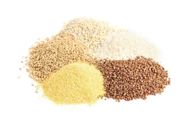 Getreide isoliert auf weiß