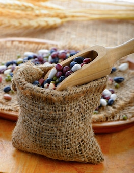 Getreide mischen bohnen
