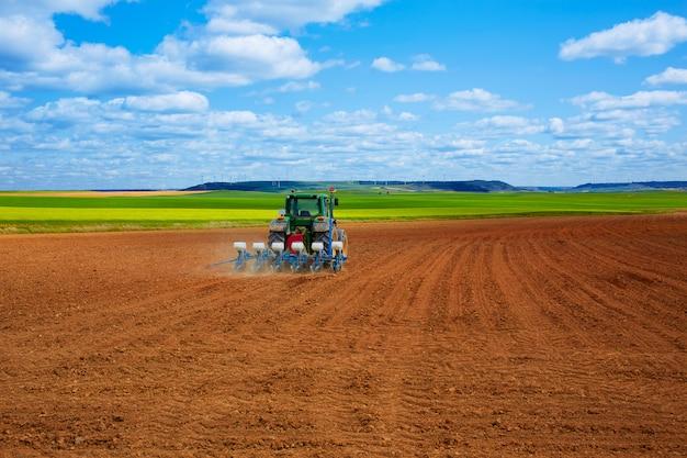 Getreidefelder auf dem jakobsweg in castilla