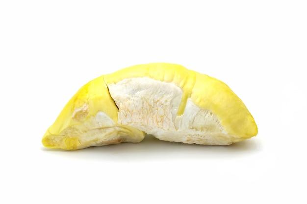 Getrennter duriankönig der frucht auf weiß