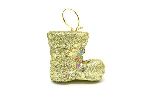 Getrenntes gelbes sankt aufladungsweihnachten auf weiß
