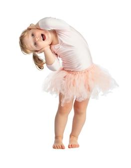 Getrenntes weibliches kind mit ballettröckchen